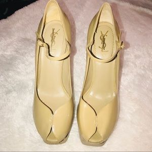 YSL Tribute Patent Leather Maryjane Pumps
